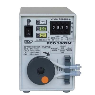 PCD1062 - Peristaltické čerpadlo, Funkce REV, MAX, START/STOP