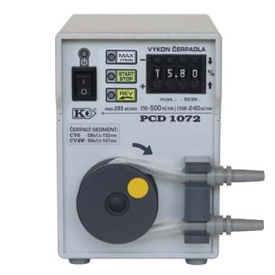 PCD1072 - Peristaltické čerpadlo, Funkce REV, MAX, START/STOP