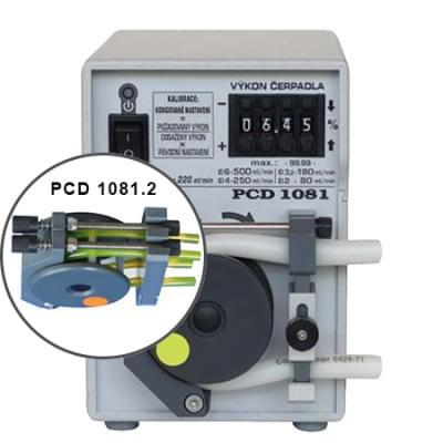 PCD1081.2 - Peristaltické čerpadlo s opěrnou dráhou, základní provedení - dvouhadičkové