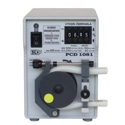 PCD1081 - Peristaltické čerpadlo s opěrnou dráhou, základní provedení, manuální číslicové nastavení výkonu
