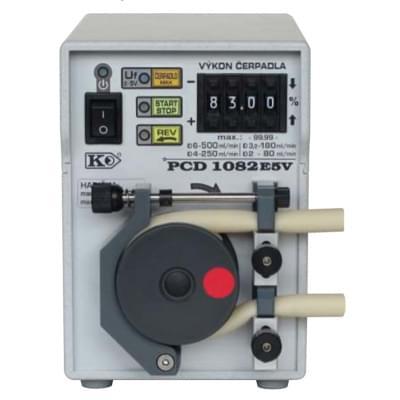 PCD1082 - Peristaltické čerpadlo s opěrnou dráhou, Funkce REV, MAX, START/STOP