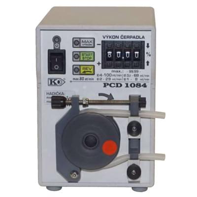 PCD1084 - Peristaltické čerpadlo s opěrnou dráhou, Funkce REV, MAX, START/STOP