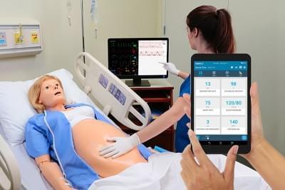 Materský a novorodenecký simulátor vrátane novorodenca PEDI Blue + OMNI2
